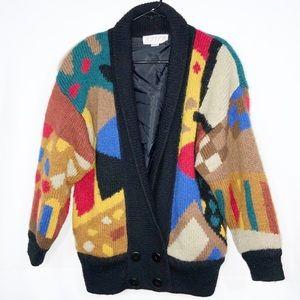 Aziz Vintage Wool Geometric Sweater One Size